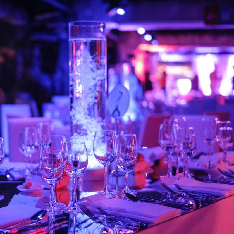 Bubble tube centrepieces